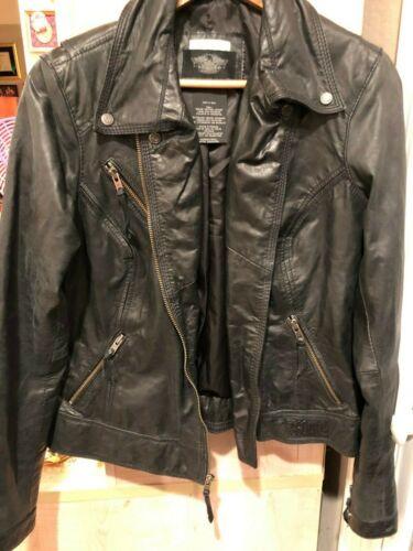 Harley Davidson Ladies Motorcycle Jacket Black Leather