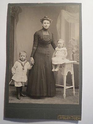 Hamburg - Agnes Nagel geb. Meyer mit Söhnen Hans + Paul / KAB