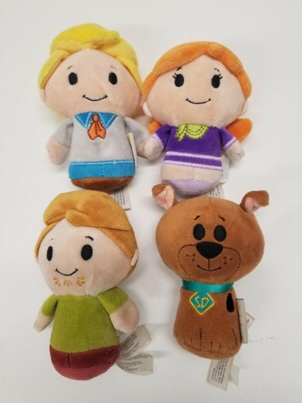 "Hallmark Itty Bittys Scooby-Doo Fred Shaggy Daphne scooby 4"" Mini Plush Lot of 4"