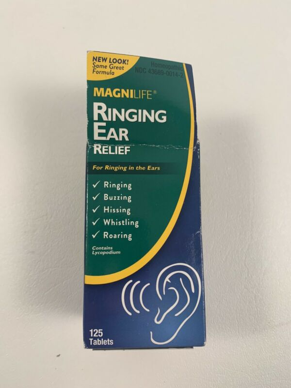 Magnilife Ringing Ear Relief 125 Tablets Homeopathic Ringing Buzzing Hissing