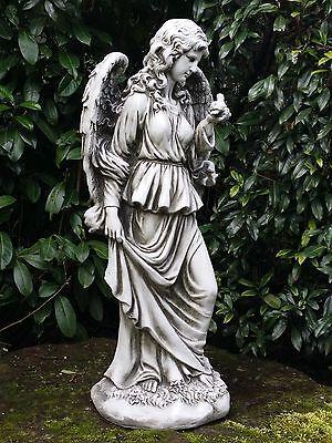 Eden Engel Deko Figur Engelsfigur Fantasy Statue Garten Skulptur Grabdeko 100 cm