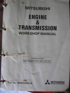 MITSUBISHI PAJERO ENGINE AND TRANSMISSION MANUAL c1981 Dianella Stirling Area Preview