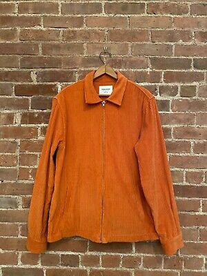 Noon Goons Men's Corduroy Jacket, Orange Sz L