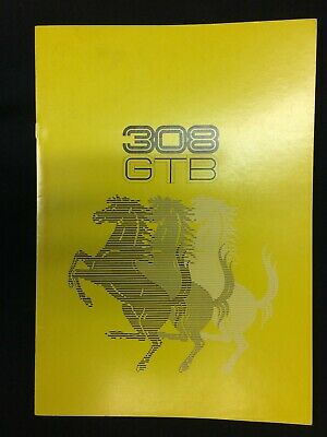 1976,1977 Ferrari 308 GTB original factory large color sales brochure, 120/76