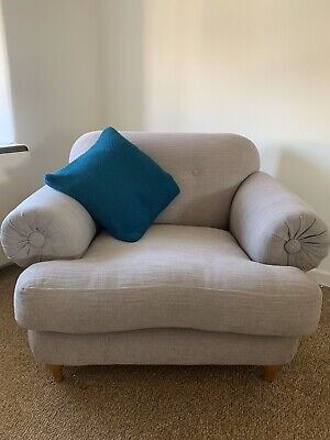 Large Grey Armchair/Love Seat