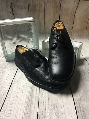 Hush Puppies Lace Up Black Plain Toe Leather Mens 10 M EUC Puppies Plain Leather