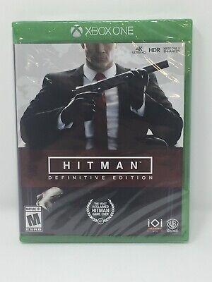 Hitman: Definitive Edition Microsoft Xbox One 2018 Brand New Sealed