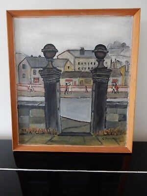 painting NORTHERN STYLE  Christabel Dangerfield 1967 (Lowry) Post Contemporary
