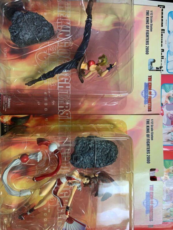 Yamato SNK Garou King of Fighters 2000 Mai Shiranui & Blue Mary 2 Figure Set MOC