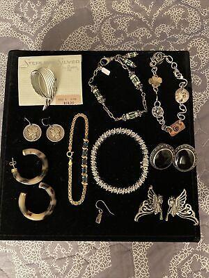 925 Sterling Silver Gold Souvenir-Plated RI State Souvenir Pendant Charm Bail Only