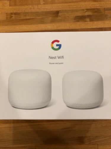 Google Nest Wifi Router Dual Band Mesh System + Access Point 2-Pack GA00822 Snow