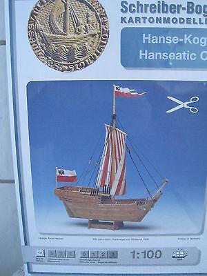 Hanse-Kogge Kogge Boot Kartonbausatz *NEU* Schreiber- Bastelbogen
