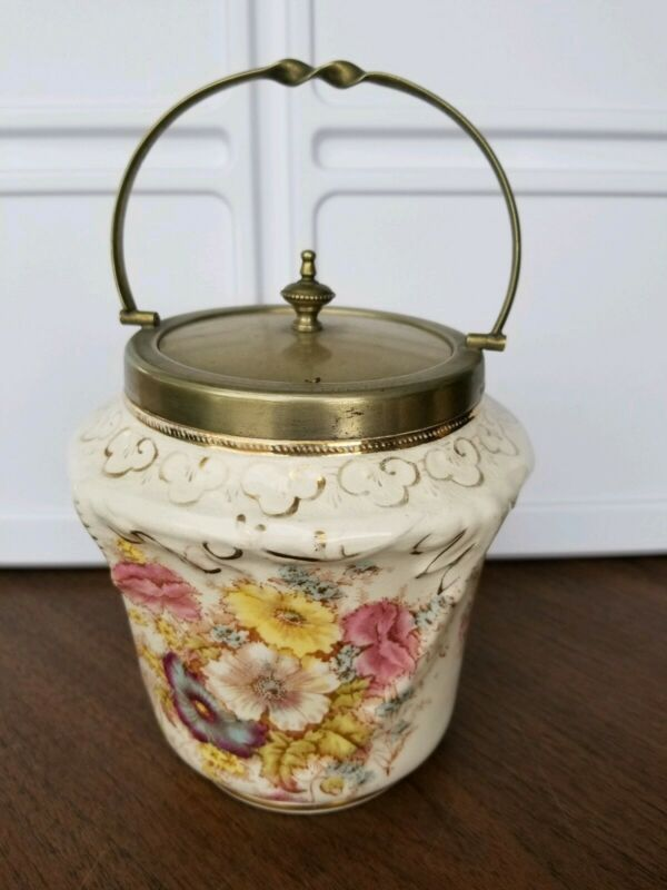 Antique English Biscuit Barrel