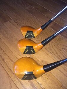 Vintage Genuine Persimmon TNT U.S.A 1-3-4 wood drivers