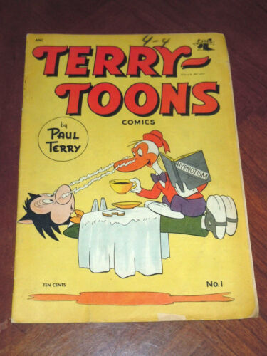TERRY TOONS #1 (St. JOHN 1952). VG (4.0) cond. MIGHTY MOUSE, DINKY, GANDY GOOSE