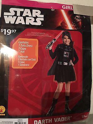 Halloween Costume Girl's Star Wars Darth Vader Small, Medium or Large
