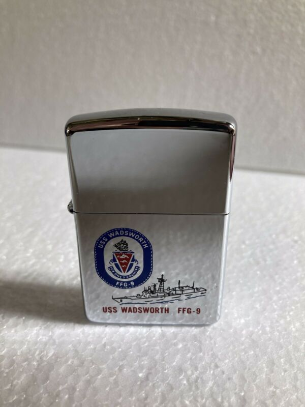 USS Wadsworth FFG-9 Zippo Lighter MIlitary Naval Highly Polished Not Fired