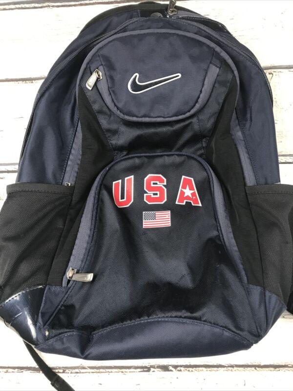 Nike Navy Blue Black Backpack Team Bag USA Flag Olympics Year ? 2008 2012