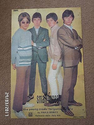 SMALL FACES THE YOUNG MODS FORGOTTEN STORY ORIGINAL 1995 PROMO POSTER.