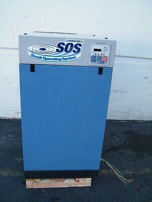 2009 Powerex Oil Free Scroll Air Compressor Set150740e 15hp Lab Dental Medical
