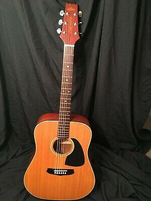 Aria acoustic guitar LW-12 vintage Japan 6 string soft case