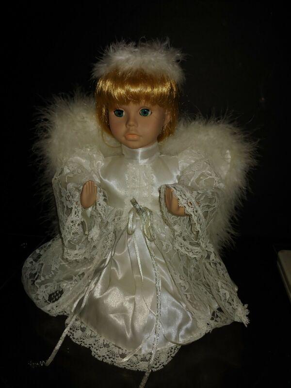 Musical Kneeling Praying Angel Doll Animated Plays