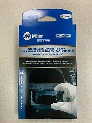 Genuine Miller Pro-hobby Series Inside Lens Covers 5 Pack 231410 Welding