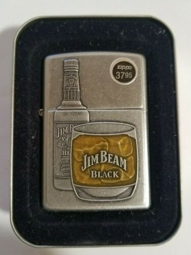 Zippo - Satin Chrome, Jim Beam Bottle Emblem 21111