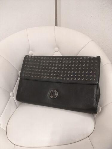 Original Laurel Handtasche Luxus Designer Artikel schwarzes echtes Leder 350€
