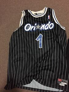 THROWBACK MCGRADY PINSTRIP NIKE OFFICAL JERSEY