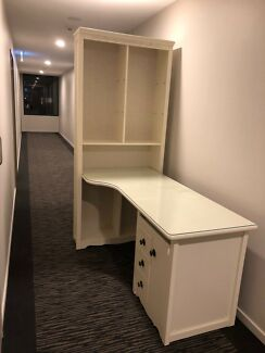 Timber Hutch Desk with Bookcase and drawers in good condition