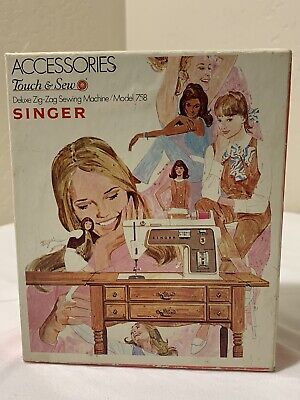 Singer Touch & Sew Accessories Model 758. Deluxe Zig-Zag Sewing Machine.