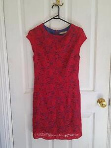 Worn once red and blue lined dress size 10-12 Morangup Toodyay Area Preview