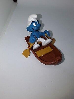 Peyo schtroumpf smurf barque bateau 1981