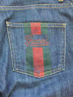 Gucci Women's Blue Jeans Vintage Size 40 Ladies Made in Italy