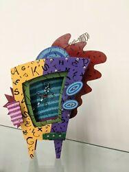 LARGE vintage 90's ADDISON PAIGE Abstract Modern CLOCK sculpture MTV Big Time TV