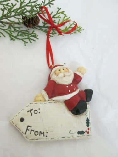 Vintage Resin Eddie Walker Christmas Gift Tag Ornament Midwest of Cannon Falls
