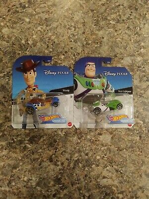 HOT WHEELS Woody and Buzz Lightyear Disney Pixar Character Cars BRAND NEW