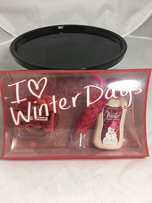 Candy Apple Boxen (Bath and Body Works Winter Candy Apple... 3 pc Set I ❤️ Winter Days New in Box)