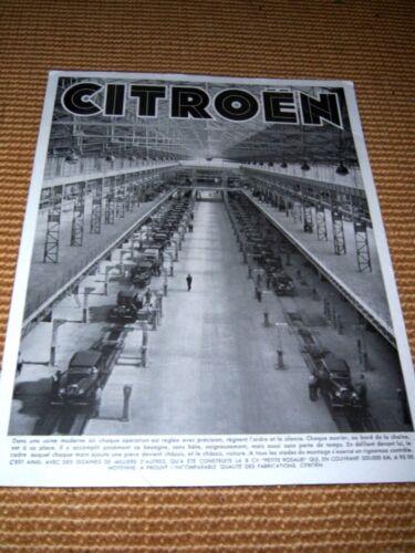 Vintage 1952 CITROEN French Dealer Sales Placard Assembly Line