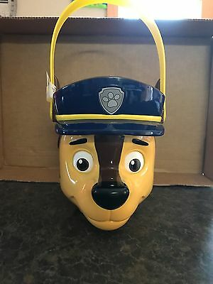 Paw Patrol Chase Police Man Bucket Pail Halloween Plastic New - Paw Patrol Halloween Bucket