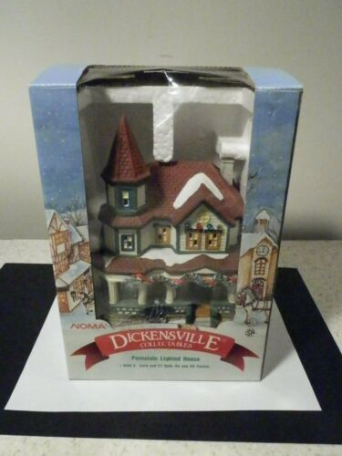 NEW NOMA DICKENSVILLE PORCELAIN LIGHTED HOUSE WITH 6