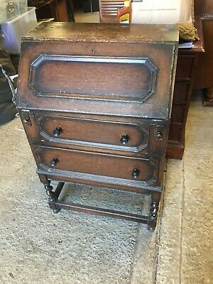 Vintage Writing Bureau Bureaux Home Office Traditional For Restoration 2/12/A