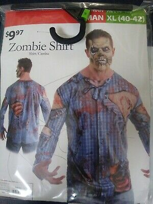 Zombie Shirt Halloween Man Size XL (40-42)