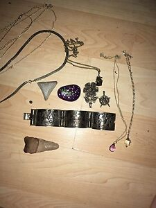 Assorted jewellery - goth punk vintage weird etc
