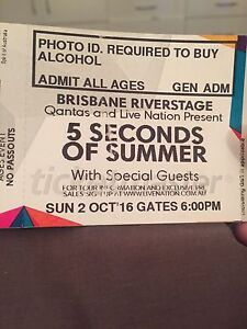 5sos concert tickets Redbank Plains Ipswich City Preview