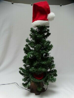 Vintage 1996 Gemmy Douglas Fir The Talking Tree w/ Adaptor and Patch Cord EUC