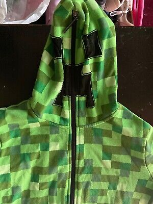 Boys Or Girls Minecraft Creeper Jacket Large Zip - Minecraft Hoodie Youth