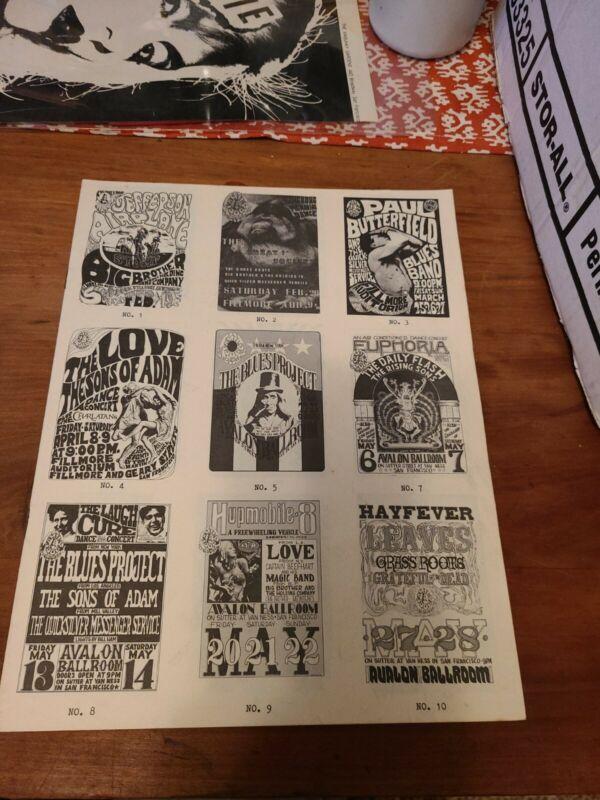 Avalon Ballroom vintage rock poster catalogue 1960s Fillmore