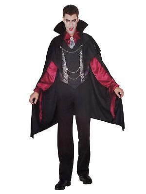 Mens Vampire Costumes (Seasons Mens Bloodthirsty Master Vampire Dracula Halloween)